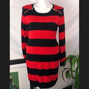 Michael Kors | XL Women Black/ Red Strip Dress